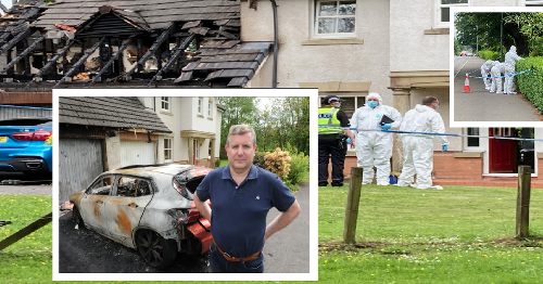 Firebomb thugs torch Scots Tory councillor's cars and home in third attack