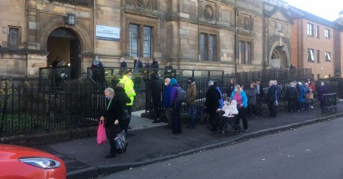 Scots pensioners forced to queue for hours in the cold for their jags