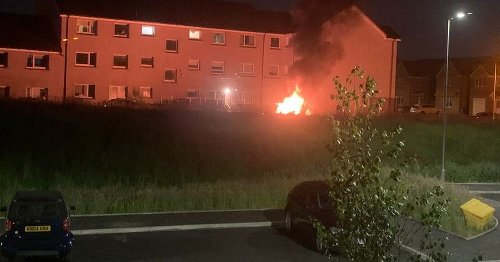Firebomb attack at Glasgow flats as three cars torched in 'huge explosion'