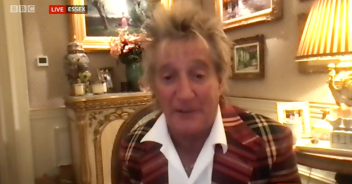 Rod Stewart claims he's a 'Cockney Scot' and admits to invading Wembley pitch