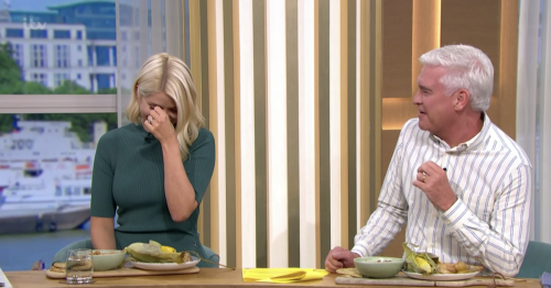 This Morning's Holly Willoughby and Philip Schofield giggle over rude innuendo