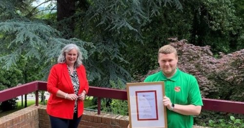 Student of the year Michael is helping to change gender stereotypes in childcare