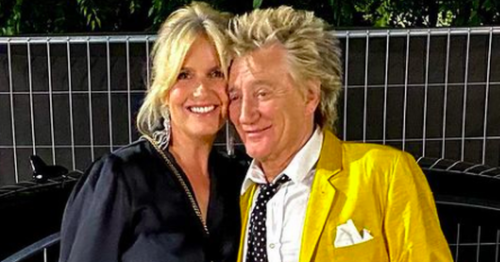 Rod Stewart and Loose Women wife Penny Lancaster talk tour news in Hungary