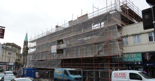 Demolition work begins at historic Lanarkshire department store