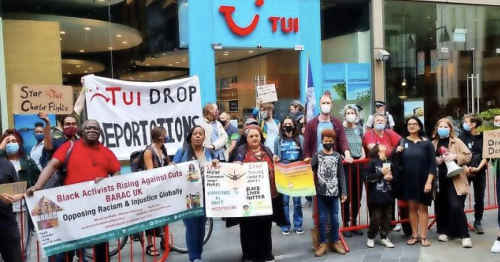 TUI protest planned as holiday giant allows charter flights for deportations