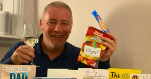 Rangers' legend Ally McCoist celebrates birthday with Refreshers and wine gums