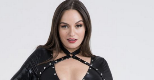 Model sparks meltdown by flaunting curves in 'erotic' cut-out catsuit