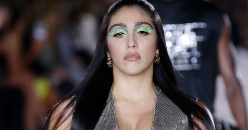 Madonna's daughter Lourdes joins models on runway of Versace fashion show