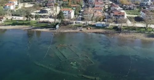 Ruins of 'magnificent' ancient church emerge from under water thanks to lockdown