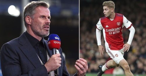Jamie Carragher names Smith Rowe 'best in the league' at running with the ball