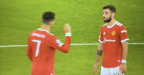 Ronaldo and Fernandes visibly 'not happy' after Man Utd concede opening goal
