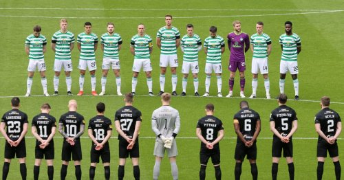 Firewoks set off outside Celtic stadium in two minute silence for Prince Philip