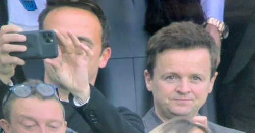 Ant and Dec overwhelmed at Newcastle game before play halted over fan emergency