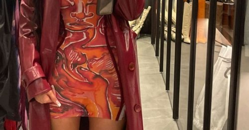 Kylie Jenner parades curves in skintight minidress in racy dressing room pics