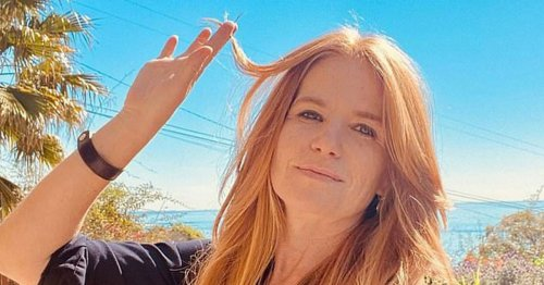 EastEnders' Patsy Palmer wows in a microscopic purple bikini for sunshine snap
