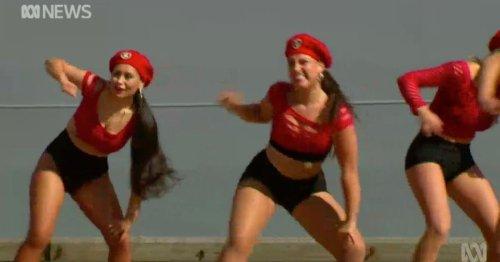 'Twerking' scantily-clad dancers overshadow ceremony for navy's new warship