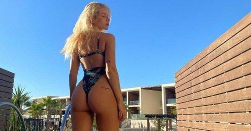 Lottie Moss flaunts bum as she showcases intimate tattoo in sizzling bikini snap
