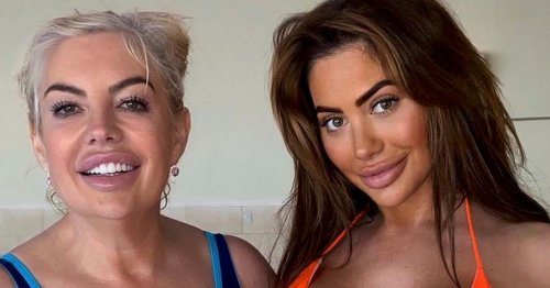 Chloe Ferry strips to thong bikini for spa day with newly engaged lookalike mum