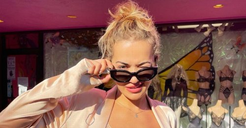 Rita Ora wows fans as she exposes bra in gaping silk blazer in red-hot display