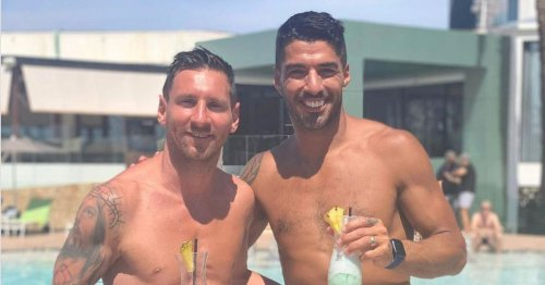 Lionel Messi sinks cocktails with Luis Suarez while 'banned' from Barca training