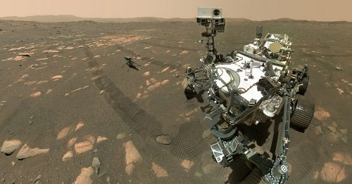 Mars rover takes selfie with chopper before first-ever flight on an alien planet