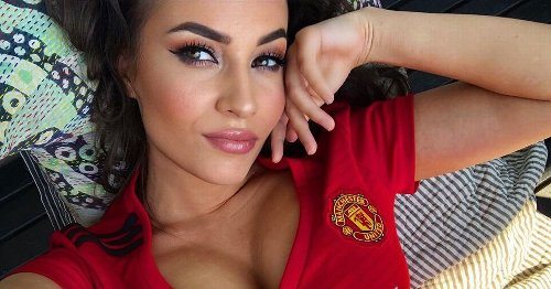 Man Utd-obsessed glamour model throwing support to Denmark with sizzling snaps
