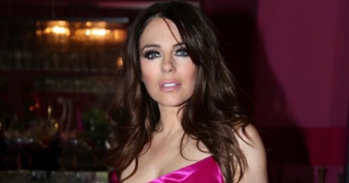 Liz Hurley goes braless in paper-thin dress as she 'banishes sweatpants'