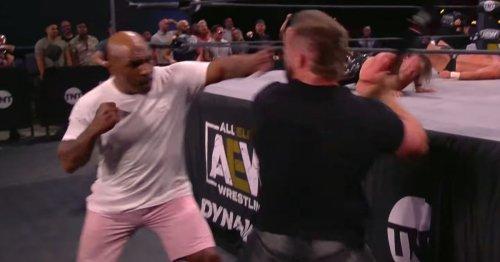Mike Tyson leaves wrestler sprawled on floor after devastating knockout punch
