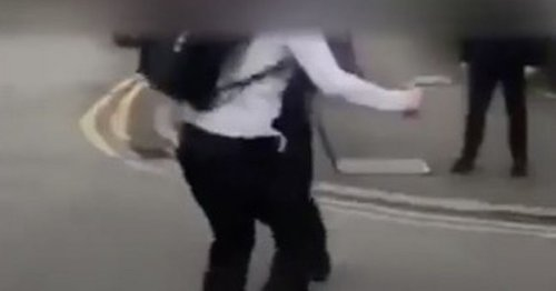 Horrifying fight as boy, 14, 'stabbed with scissors' as pupils watch on