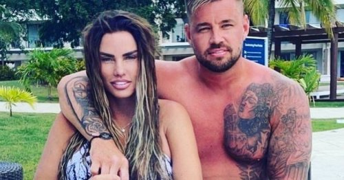 Katie Price's fiancé Carl Woods gets huge tattoo tribute of her face on holiday