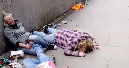 TikTok of 'drunk' friends lying by Thames in post-lockdown boozefest goes viral