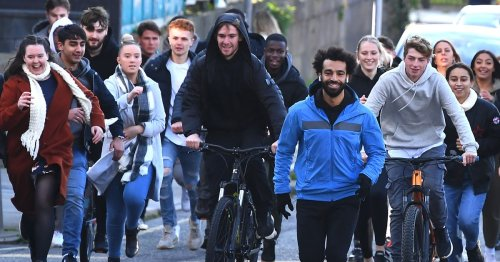 Liverpool star Mohamed Salah chased down street as he films ad in city centre