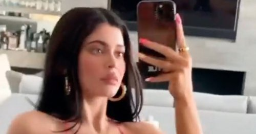 Kylie Jenner sizzles in string bikini as she showcases famous curves