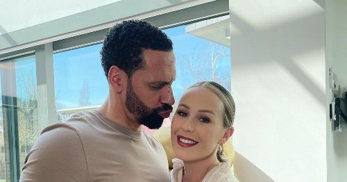 Rio Ferdinand left in 'snog mode' as his stunning wife Kate strikes up a pose