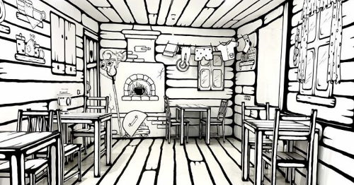Unusual 2D cafe makes customers feel like they're in their very own comic book