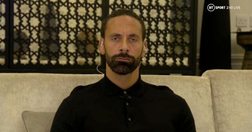 Rio Ferdinand's shirt savaged by fans as he does punditry from home