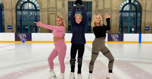 Corrie meets Love Island as Sally Dynevor poses with new Dancing On Ice co-stars