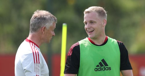 Donny van de Beek reacts to Man Utd return