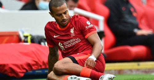 Liverpool fans in panic mode as Thiago blow leaves 'half the team injured again'
