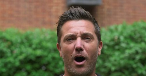 Gino D'Acampo's underpants fall off while diving in censored filming blunder