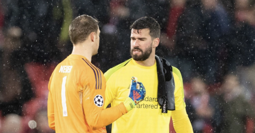 Alisson's private messages with Manuel Neuer after Liverpool winner