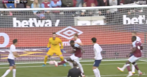 """Spurs fans tell Kane to """"sign for Man City"""" after failing to stop West Ham goal"""