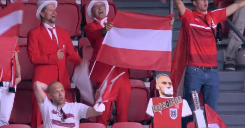 Austria fans defend Marko Arnautovic by sneaking 'censored' cut-out into stadium