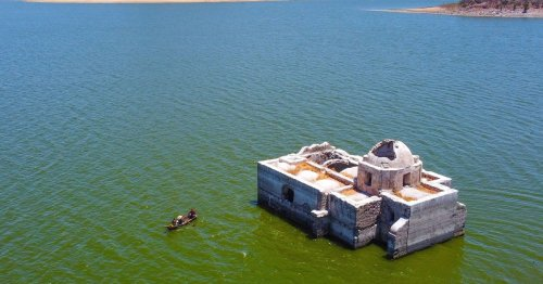 Amazing 200-year-old church emerges from lake as drought causes waters to drop