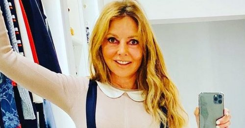 Carol Vorderman, 60, wows fans in figure-hugging dress and thigh-high boots