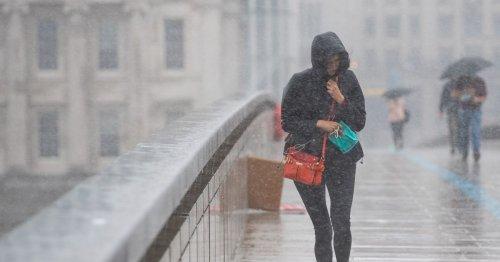 Met Office warns thunderstorms and heavy rain to lash UK as heatwave ends