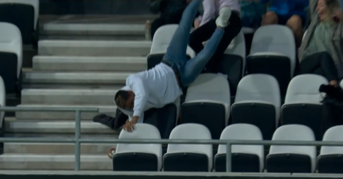 Fan takes outrageous falling catch off Liam Livingstone six during Hundred clash