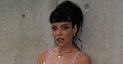 Lily Allen flashes curves in skimpy lingerie as she admits she hasn't had a wax