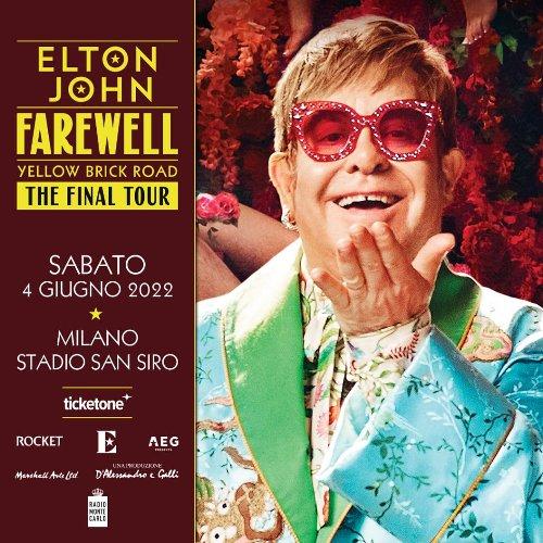 –Elton John in tour, nel 2022 in concerto a San Siro
