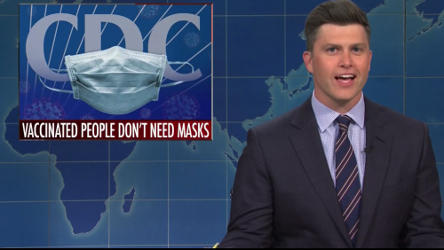 'SNL's Weekend Update Tackles New Masking Guidelines, Liz Cheney's Ouster From Republican Leadership & Tom Cruise's Decision To Return His Golden Globes